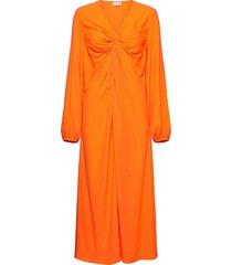 freesias maxiklänning festklänning orange by malene birger