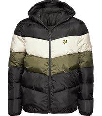colour block puffa jacket fodrad jacka multi/mönstrad lyle & scott