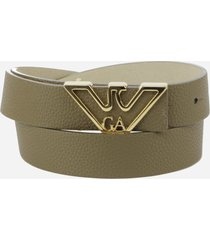 emporio armani belt with shaped logo