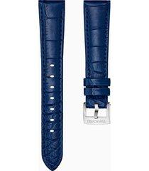 cinturino per orologio 17mm, blu, acciaio inossidabile