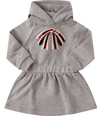 gucci grey dress with logo on the hood