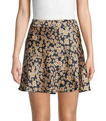 phoebe floral mini skirt