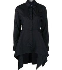 karl lagerfeld peplum tunic shirt - black