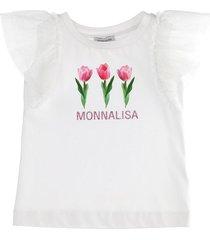 monnalisa galette tulle t-shirt
