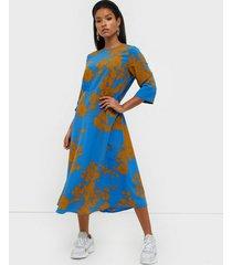 selected femme slfjade-oriana 3/4 aop midi dress b loose fit dresses