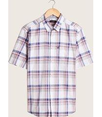camisa blanco-azul-coral patprimo