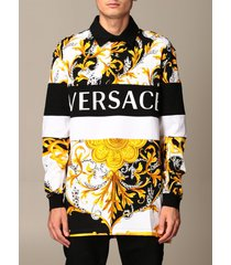 versace polo shirt versace polo shirt in cotton with baroque print