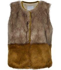 vest in faux fur vest bruin coster copenhagen