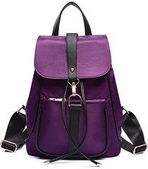 mochila casual mujeres- otoño e invierno hombro-púrpura