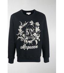 alexander mcqueen skull embroidery sweatshirt