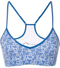 the upside top esportivo zoe floral - azul