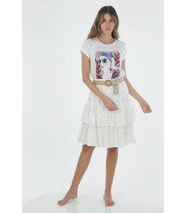 falda tiro medio para mujer topmark, plana y fondo entero
