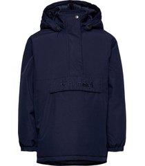 hmlcozy jacket parka-jas blauw hummel