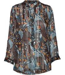 shirt blus långärmad multi/mönstrad ilse jacobsen