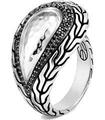 women's john hardy classic chain hammered silver ring