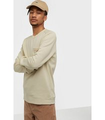 selected homme slhfrank crew neck sweat w tröjor ljus gul