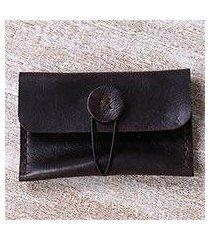 leather business card holder, 'sunda kelapa night' (indonesia)