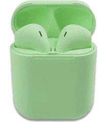 audifonos i12 verde todobags