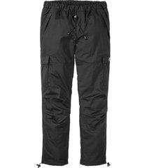 pantaloni termici loose fit con elastico in vita straight (nero) - rainbow