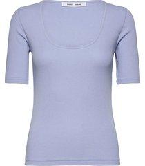 alexo ss t-shirt 7542 t-shirts & tops short-sleeved blå samsøe samsøe