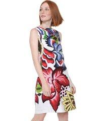 38e060efd Vestidos - Com Decotes - Branco E Vermelho Floral - 19 produtos com ...