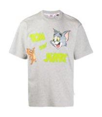 gcds camiseta com estampa tom & jerry - cinza