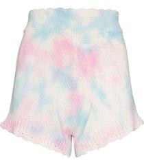 loveshackfancy karissa knitted tie-dye shorts - pink