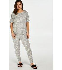 hunkemöller pyjamasbyxor jersey grå