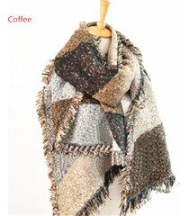 2017 winter women thick warm faux cashmere pashmina wool scarf shawl wraps