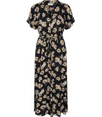 jurk bloemenprint zwart