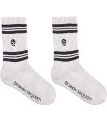 alexander mcqueen logo lurex socks