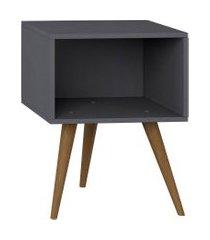 mesa de cabeceira expresso be mobiliário cinza