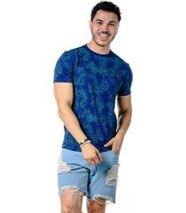 camiseta manga curta full leaf masculina - masculino