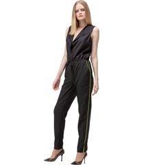 macacão preto amarração bolsos golden dress