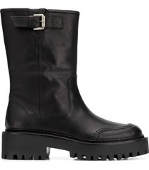 vic matie side buckle boots - black