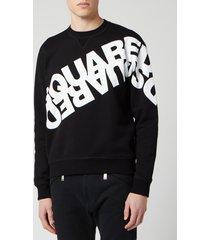 dsquared2 men's angled mirror logo sweatshirt - black - xl