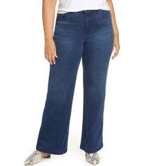 plus size women's nydj wide leg trouser jeans