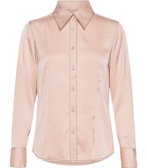 satin stretch - lotte bc blouse lange mouwen roze sand