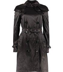 burberry hooded taffeta trench coat