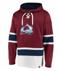 majestic colorado avalanche men's power play lace up hoodie
