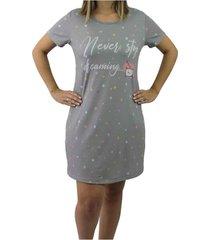 camisola média estampada neway feminina cinza e branco