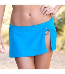 blue waters skirted swimsuit bottom