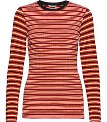 5x5 stripe mix tuba t-shirts & tops long-sleeved rood mads nørgaard