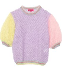 balloon sweater in tricolor pastel