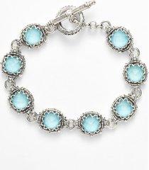 konstantino 'aegean' station link bracelet in silver/turquoise at nordstrom