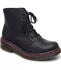 76240-00 shoes boots ankle boots ankle boot - flat svart rieker