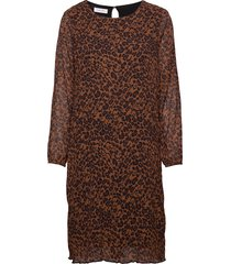 dress woven fabric jurk knielengte bruin gerry weber
