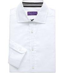 purple label printed dress shirt
