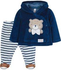 buzo teddy recién nacido azul piedra black and blue