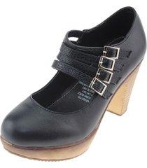zapato mujer negro via franca